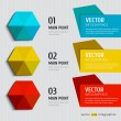 colorful infographics options  — Stok Vektör