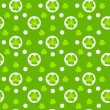 Pattern with green clover. — Stock Vector