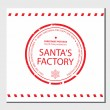 Santa's Factory rubber stamp — Vettoriali Stock