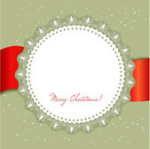 Christmas card with large snowflake — Stock Vector