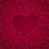 Heart with seamless background — Stockvektor