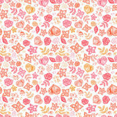 Doodle floral seamless pattern — Stock Vector