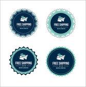 Etichette di spedizione gratuita — Vettoriale Stock