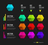 Faixa de opções de infográficos — Vetorial Stock