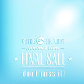 Final summer sale — Stock Vector