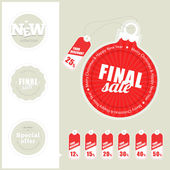 Final Sale Labels — Vector de stock