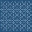 Pattern with white snowflakes — Imagen vectorial