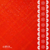 Christmas red applique background. — Stock vektor