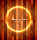 Vector wooden background — Stock Vector