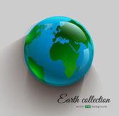 Globe 3D-imitation icon — Stock Vector