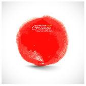 Hermosa acuarela círculo rojo — Vector de stock