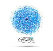 Splendido acquerello cerchio blu — Vettoriale Stock