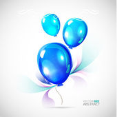 Blue vector balloons — Stock Vector