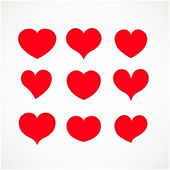 Set of grunge vector hearts — Stock Vector