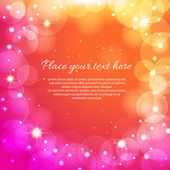 Magic holiday background with bright bokeh — Vector de stock