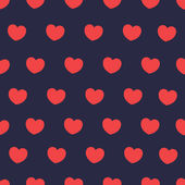 Seamless pattern with colorful hearts. St Valentine's day background. — Stock vektor