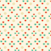 Seamless pattern with colorful hearts. St Valentine's day background. — Stock Vector