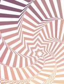 星と抽象的な錯覚パターン ベクトル. — ストックベクタ