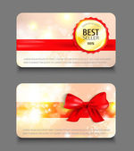 Set of holiday gift cards. — Stock Vector