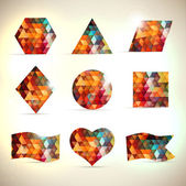 Abstract triangle banner set. — Stockvector