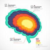 мозг инфографика. — Cтоковый вектор