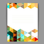 Abstract triangle banner with snow — Stock Vector