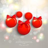 Christmas balls hanging — Stock Vector