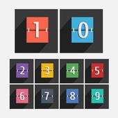 Flat numbers — Wektor stockowy