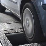 Roller brake tester — Stock Photo