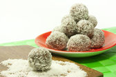 Sweets chocolate and coconut — Stock Photo