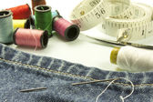Tools used for sewing — Stock Photo