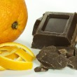 Orange peel and chocolate — Stock Photo #36431661