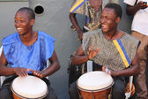 Jamaican Street Performers Playing Bongo Drums — Stock Photo