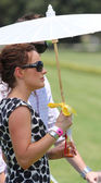 Female Spectator at the Polo — Stok fotoğraf