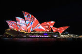Sydney Opera House Night Vivid Light Festival — Stock Photo