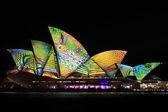 Sydney Opera House Night Vivid Light Festival — Stock Photo