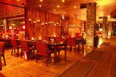 Restaurant Interior at Night — Stock Photo