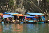 Floating Village — Stockfoto