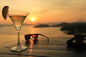 Cocktail at Sunset — Stockfoto
