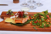 Grilled Salmon Fillet — Foto Stock