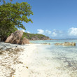 Tropical sand beach on Seychelles islands, Praslin, Anse Lazio — Stock Photo #19552331