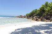 Beach, La Digue, Seychelles — Stock Photo