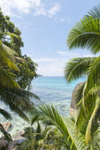 Dream beach on the island of La Digue, Seychelles, Indian Ocean — Stock Photo
