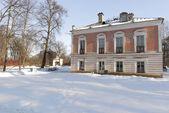 Beautiful winter park. Orientbaum park. Russia — Stock Photo