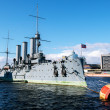 Russian cruiser aurora. st.Petersburg — Stock Photo