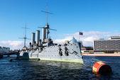 Russian cruiser aurora. st.Petersburg — Stock Photo