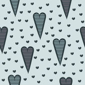 无缝模式与心 — 图库矢量图片