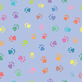 Seamless patterns with prints of animals — Stockvector