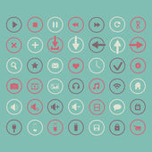 Set of icons web design elements — Vector de stock