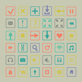 Set of icons web design elements — Stock Vector